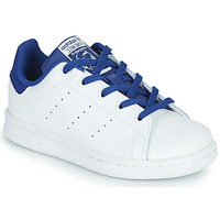 Chaussures Garçon Baskets basses adidas Originals STAN SMITH C Blanc / Bleu