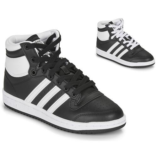 Chaussures Enfant Baskets montantes adidas Originals TOP TEN J Noir / Blanc