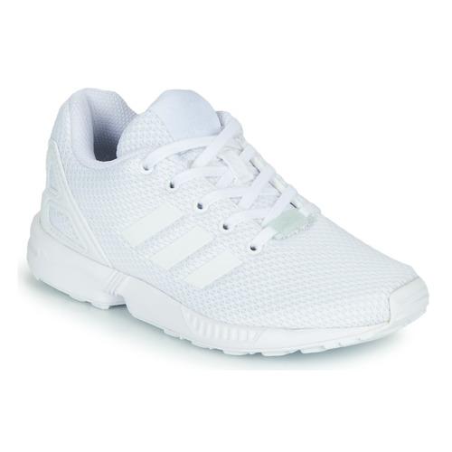 Chaussures Enfant Baskets basses adidas Originals ZX FLUX C Blanc