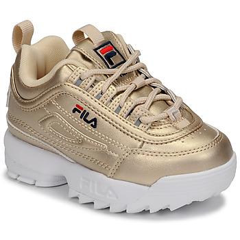 Chaussures Fille Baskets basses Fila DISRUPTOR F INFANTS Doré