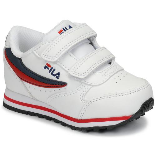 Chaussures Enfant Baskets basses Fila ORBIT VELCRO INFANTS Blanc / Bleu
