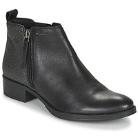 Chaussures Femme Bottines Geox LACEYIN Noir / Argent