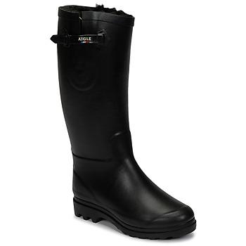 Chaussures Femme Bottes de neige Aigle AIGLENTINE FUR Noir