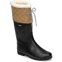 Chaussures Femme Bottes de neige Aigle POLKA GIBOULEE Marine / Beige