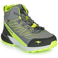 Chaussures Garçon Baskets montantes Kangaroos K-SCOUT RTX Gris / Vert