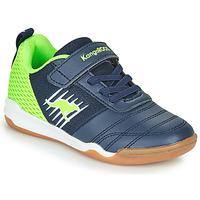 Chaussures Garçon Baskets basses Kangaroos SUPER COURT EV Bleu / Vert