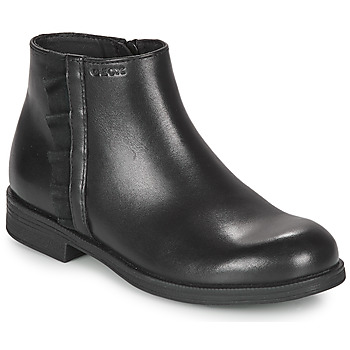 Chaussures Fille Boots Geox AGGATA Noir