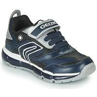 Chaussures Garçon Baskets basses Geox ANDROID Marine / Argent