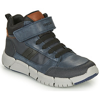 Chaussures Garçon Boots Geox FLEXYPER Marine / Noir