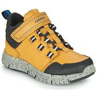 Chaussures Garçon Boots Geox FLEXYPER ABX Miel
