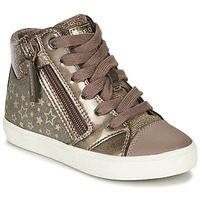 Chaussures Fille Baskets montantes Geox GISLI Bronze