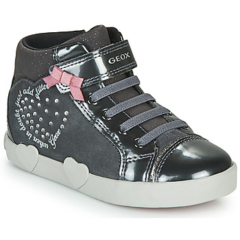 Chaussures Fille Baskets montantes Geox KILWI Gris