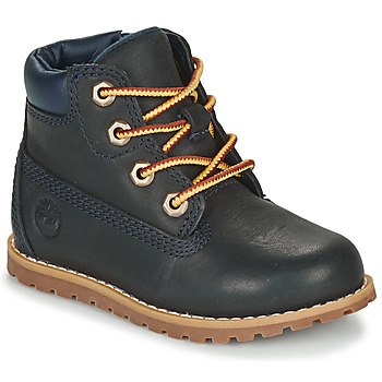 Chaussures Enfant Boots Timberland POKEY PINE 6IN BOOT WITH Bleu