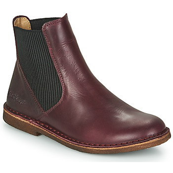 Chaussures Femme Boots Kickers TINTO Bordeaux