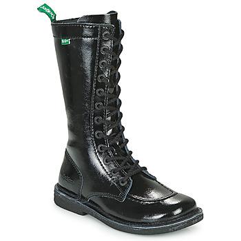 Chaussures Femme Bottes ville Kickers MEETKIKNEW Noir Verni