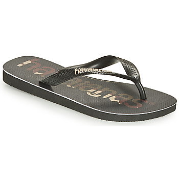Chaussures Tongs Havaianas TOP LOGOMANIA Noir