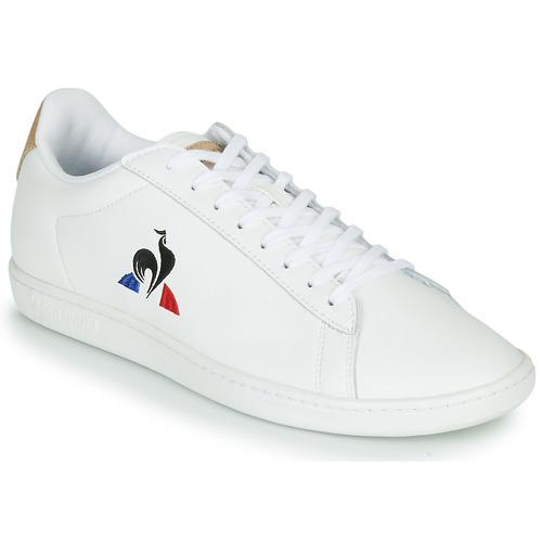 Chaussures Baskets basses Le Coq Sportif COURTSET Blanc / Cognac