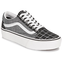Chaussures Femme Baskets basses Vans OLD SKOOL PLATFORM Gris