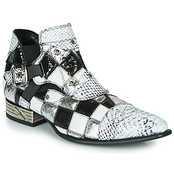 Chaussures Homme Boots New Rock  Blanc / Noir