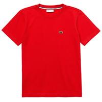Vêtements Garçon T-shirts manches courtes Lacoste TJ1442-F8M-J Rouge