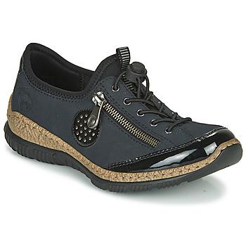 Chaussures Femme Derbies Rieker N3268-01 Bleu / Noir