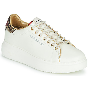Chaussures Femme Baskets basses Serafini J.CONNORS Blanc / Python