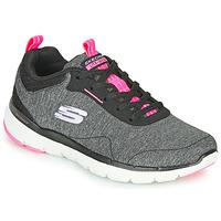 Chaussures Femme Fitness / Training Skechers FLEX APPEAL 3.0 Gris / Noir / Rose