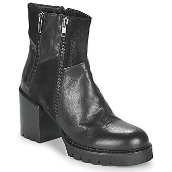 Chaussures Femme Bottines Café Noir JOEL Noir