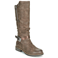 Chaussures Femme Bottes ville Emmshu CLESY Marron
