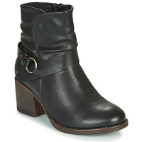 Chaussures Femme Bottines Emmshu FLEUR Noir