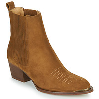 Chaussures Femme Bottines Ikks TIAG SUEDE Camel
