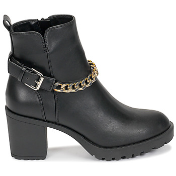 Bottines Only BARBARA-9 PU HEELED CHAIN BOOT