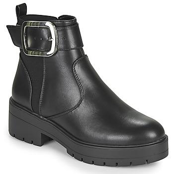 Chaussures Femme Boots Only BRANKA-5 PU BUCKLE BOOT Noir
