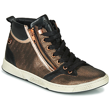 Chaussures Femme Baskets montantes Pataugas JULIA/MIX F4F Rose Gold / Noir