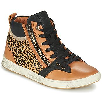 Chaussures Femme Baskets montantes Pataugas JULIA/PO F4F Cognac / Leopard