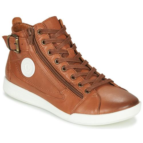 Chaussures Femme Baskets montantes Pataugas PALME/N F4D Cognac