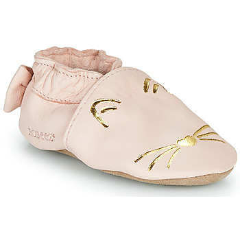 Chaussures Fille Chaussons Robeez GOLDY CAT Rose / Doré