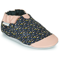 Chaussures Fille Chaussons Robeez RAINY LOVE Noir / Rose