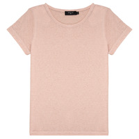 Vêtements Fille T-shirts manches courtes Deeluxe GLITTER Rose