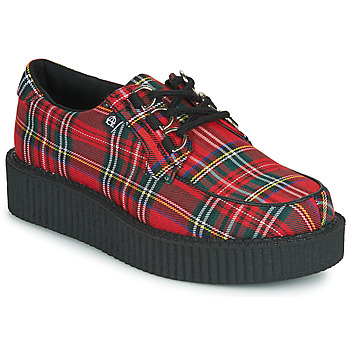 Chaussures Derbies TUK ANARCHIC 3RING CREEPER CANVAS Rouge Tartan