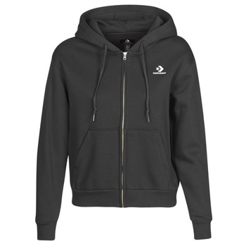 Vêtements Femme Sweats Converse CONVERSE WOMENS FOUNDATION FULL ZIP HOODIE Noir