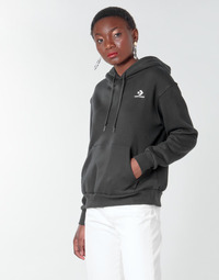 Vêtements Femme Sweats Converse CONVERSE WOMENS FOUNDATION PULLOVER HOODIE Noir