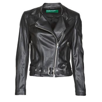 Vêtements Femme Vestes en cuir / synthétiques Benetton 2ALB53673 Noir