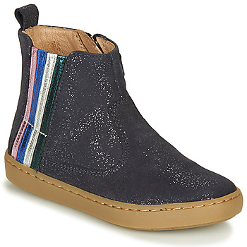 Chaussures Fille Boots Shoo Pom PLAY STRIPES Bleu