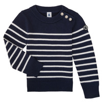 Vêtements Enfant Pulls Petit Bateau LOX Marine / Blanc