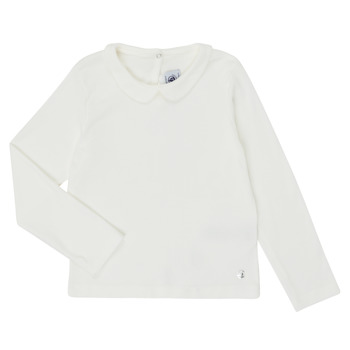 Vêtements Fille T-shirts manches longues Petit Bateau LOVING Blanc