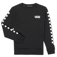 Vêtements Enfant Sweats Vans EXPOSITION CHECK CREW Noir