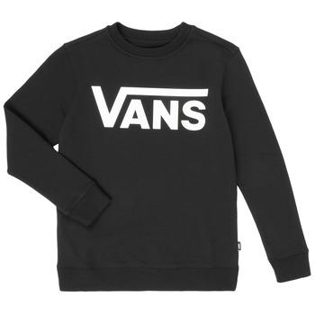 Vêtements Garçon Sweats Vans VANS CLASSIC CREW Noir