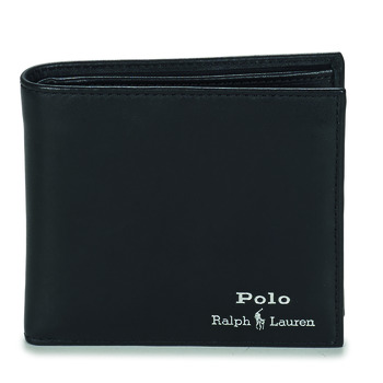 Sacs Homme Portefeuilles Polo Ralph Lauren GLD FL BFC-WALLET-SMOOTH LEATHER Noir