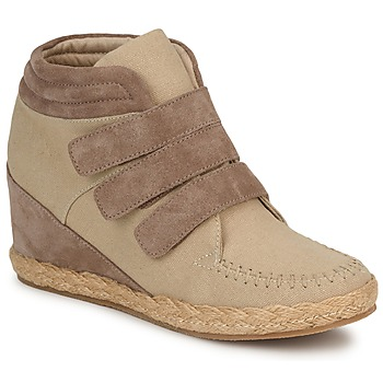 Basket montante No Name SPLEEN STRAPS Beige / Taupe